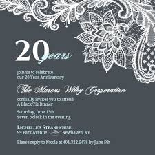 20 year anniversary ideas business anniversary invitation wording ideas etiquette tips 20th