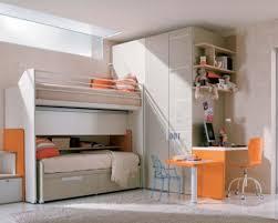 teenage and study room cheerful orange colored bedroom with