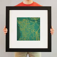 Uvm Campus Map University Of Vermont Campus Map Art City Prints