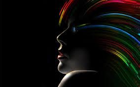 ecran noir d écran noir portrait femmes