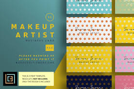 makeup artist business card 85 business card templates
