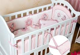 Dragonfly Crib Bedding Set Baby Bedding Set Cotton Embroidery Quilit Cot Bumper Pillow Baby