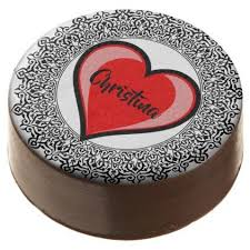 heart gifts editable chic heart with antique border chocolate dipped oreo