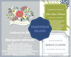 funeral invitation wording celebration of invitation wording and celebration of