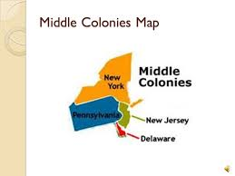 map of colonies map of middle colonies my