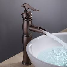 copper finish bathroom sink faucet with vintage centerset at