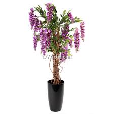 120cm height purple color artificial wisteria tree dongyi
