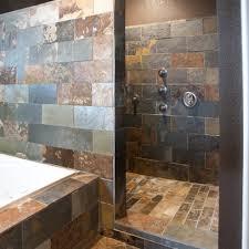 modern open shower designs tiled bathroom ideas grey small family