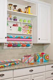 wrapping paper station gift wrap station ideas home office traditional with hobby room