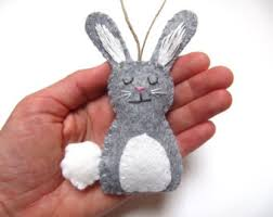 baby s ornament bunny ornament woodland