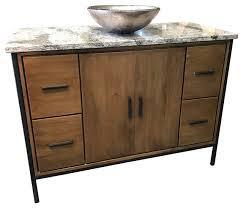 bozeman 48 bathroom vanity cambria solid wood industrial