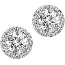 earrings for stud earrings fashion jewelry cubic zirconia halo