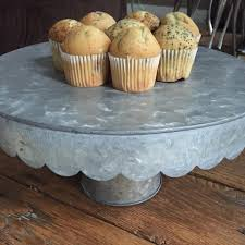 metal cake stand farmhouse style galvanized metal cake stand for 19 99 reg 50