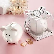 piggy bank favors baby piggy bank