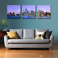Home Decor Rules Wall Ideas 4 Piece Canvas Painting Mount Calm Lake Hd Printed