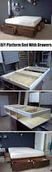 How To Build A Platform Bed Frame With Drawers by 25 Easy Diy Bed Frame Projects To Upgrade Your Bedroom Homelovr