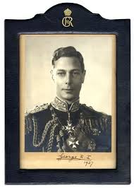 lot detail george vi signed photo in royal cypher frame 1937