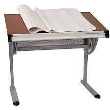 Cheap Drafting Table Flash Furniture Adjustable Drawing And Drafting Table Pewter By