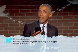 barack obama slams donald trump in u0027mean tweets u0027 skit watch