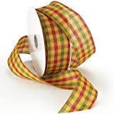 morex ribbon morex ribbon abundance wired plaid fabric ribbon 2 1