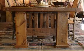 reclaimed barnwood dining table mission style dining
