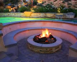 fire pit with seating los angeles u0026 southern california fire pit designers