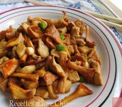 cuisine girolles recettes d une chinoise poulet sauté aux girolles