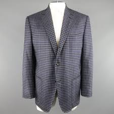 muted purple tom ford 48 regular muted purple checkered plaid wool sport coat