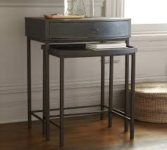 pottery barn nesting tables woodrow metal bedside nesting table dark bronze finish barn