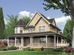 farmhouse with wrap around porch fabulous wrap around porch 6908am architectural designs