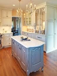 French Kitchen Island Marble Top White Cabinets Hardwood Floors Nice Home Design