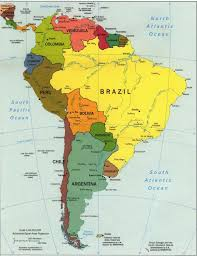 Blank Map South America Printable by Central America And The Caribbean Political Map Free Images At