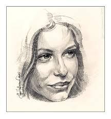 drawing a woman face female portrait drawn portrait