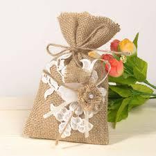 burlap wedding favor bags burlap lace favor bags rustic vintage wedding gift sachets ewfb063
