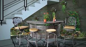 Patio Furniture Bar Sets Outdoor Bar Table And Chairs Home Design Pertaining To Attractive