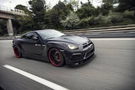 modified nissan skyline r35 radzilla widebody nissan gt r with an amazing light show