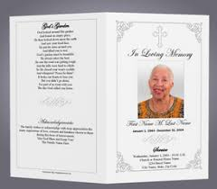 funeral memorial programs best photos of obituary designs simple funeral program