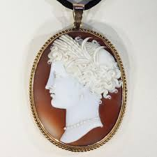 victorian cameo necklace images Antique victorian cameo pendant of a lady gold frame victoria jpg
