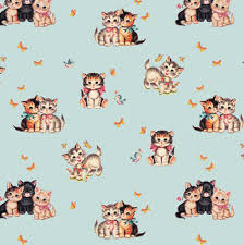 retro wrapping paper retro kitten wrapping paper elfie children s clothes