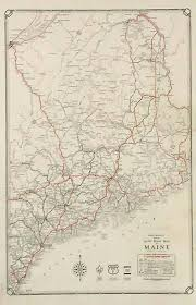 map of maine rand mcnally junior auto road map of maine
