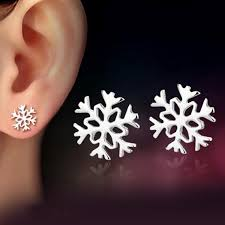 cc earrings 2017 new cc earrings channel earring 925 sterling silver snowflake