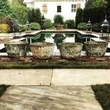 Faux Stone Planters by Charleston Gardenworks