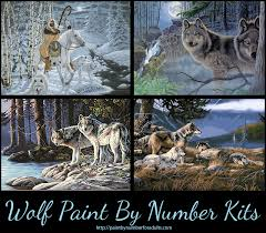 wolf paint by numbers kits absolutely beautiful pbn kits of wolves
