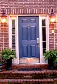 House Doors Exterior by Red Brick House Door Colors Door I Love This Color Blue And