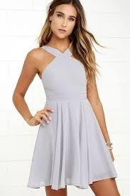 lulus dresses forevermore grey skater dress skater skirt bodice and neckline