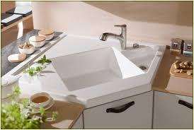 Corner Kitchen Sink Cabinets Kitchen Hammered Copper Double Bowl Corner Kitchen Sink With Oil