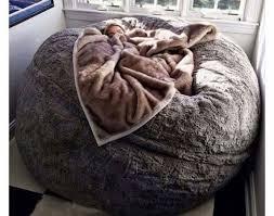 giant sheepskin bean bag chair large jumbo filled ultimate sheepskin