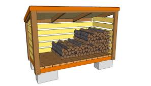 backyard diy outdoor firewood shed plans with cinder block base ideas