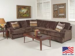 Soft Sectional Sofa Home One Furniture Serta Upholstery 8800 Olympian Brown