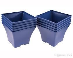 Square Planter Pots by Pack Wholesale Blue Charming Spain Basin Square Flower Pot Bonsai